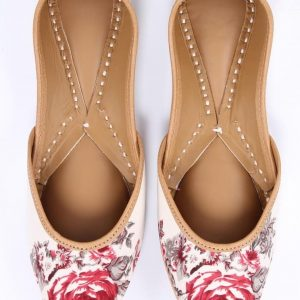 Contrast Floral Printed Jutti